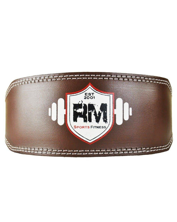 RingMasterUK Genuine Leather Power Weight Lifting Gym Belt