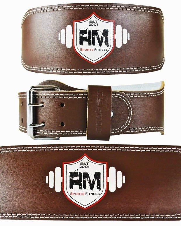 RingMaster Sports Genuine Leather Power Weight Lifting Gym Belt