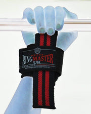 RingMaster Sports Wrist Brace Grip Padded Gym Weight lifting Strap image 4