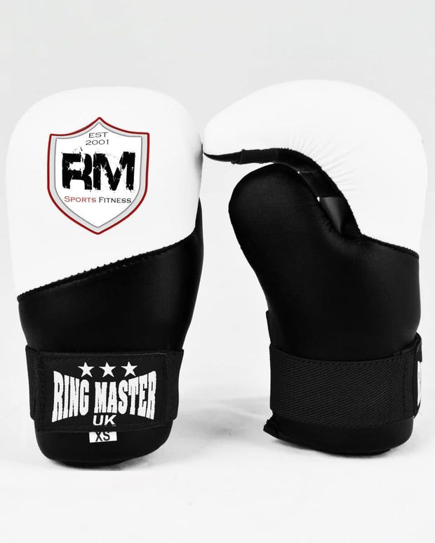 RingMaster Sports Kids Semi Contact Point Gloves Taekwondo Kickboxing Black image 1