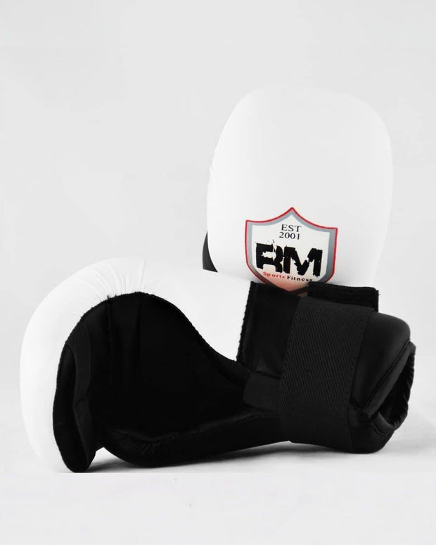 RingMaster Sports Kids Semi Contact Point Gloves Taekwondo Kickboxing Black image 3