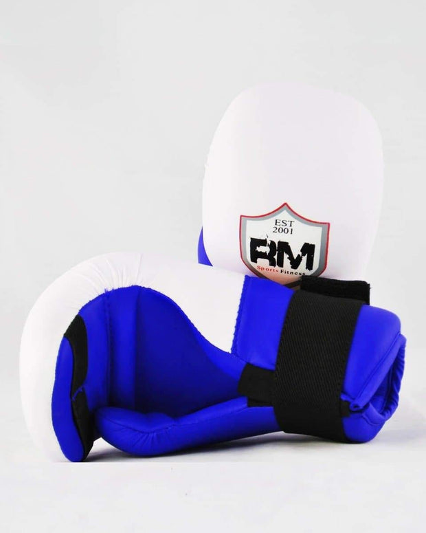 RingMaster Sports Kids Semi Contact Point Gloves Taekwondo Kickboxing Blue Image 3