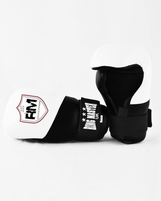 RingMaster Sports Kids Semi Contact Point Gloves Taekwondo Kickboxing Black image 4