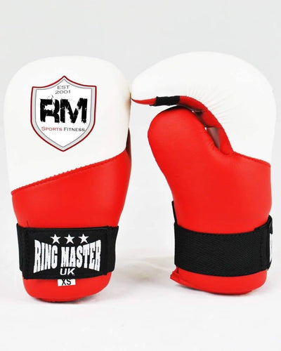 RingMaster Sports Kids Semi Contact Point Boxing Gloves XS Red