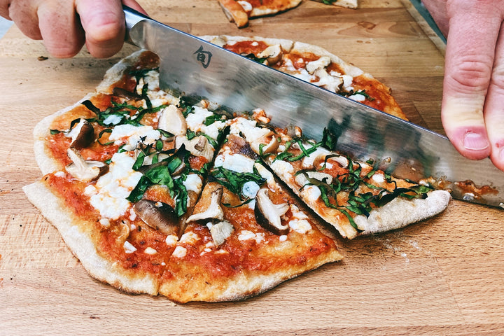 Shop The Recipe: Shiitake Mushroom, Gozarella + Lacinato Kale Pizza