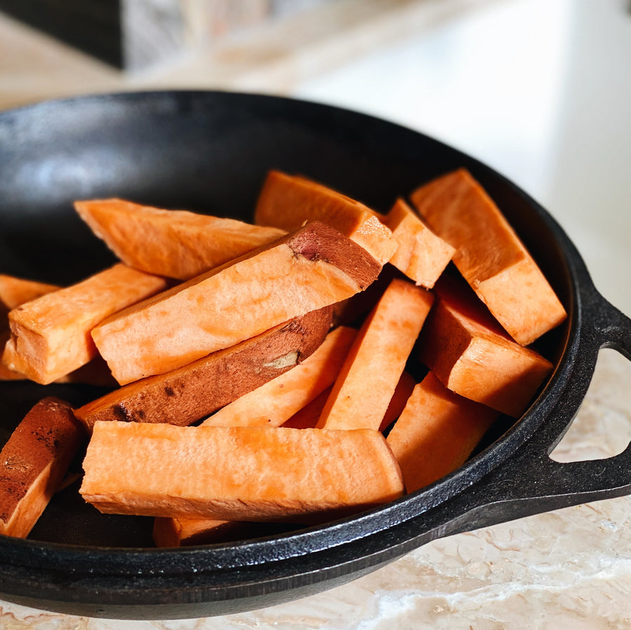 Cut Organic Yam Fries