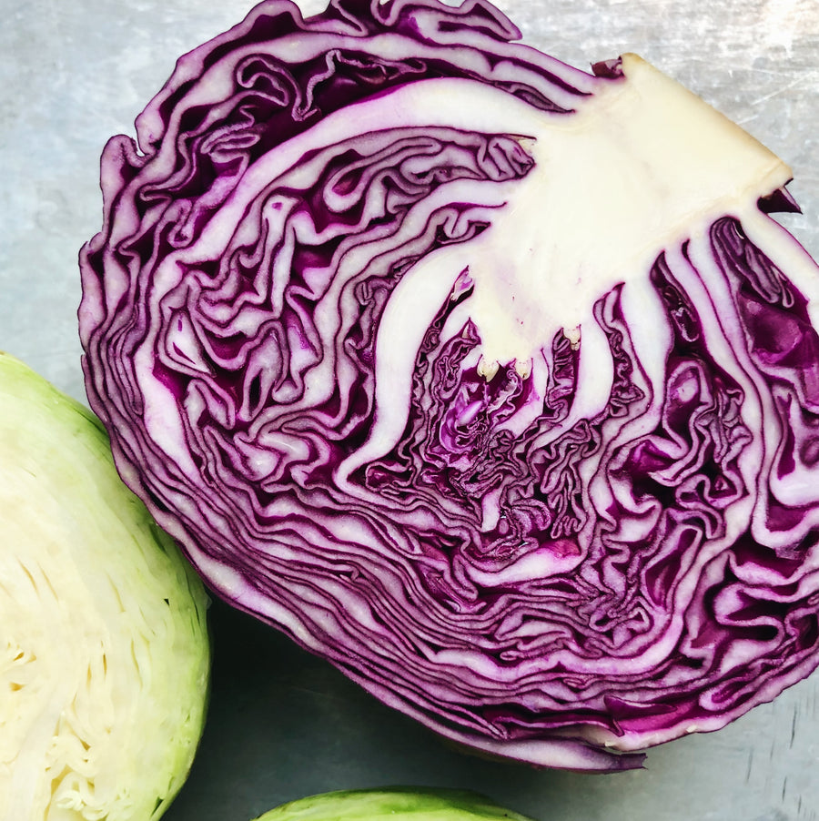 Organic BC Grown Red Cabbage Half