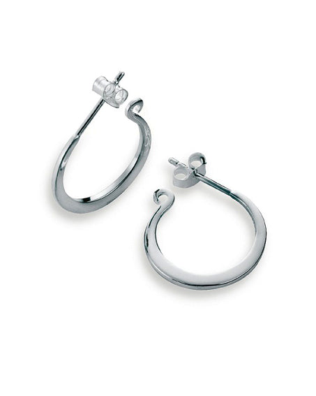Pair of hooks in sterling silver from Spinning Jewelry.