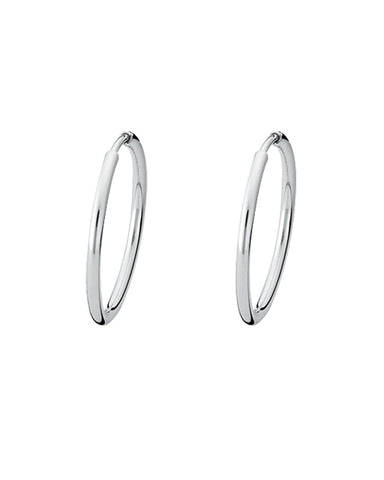 Pair of 'SMALL HOOPS' in sterling silver from Spinning Jewelry.