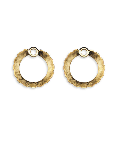 "Pair of earring hangers ""GLORIFY"" from Spinning Jewelry, featuring gold plated sterling silver."
