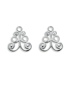 "Pair of earring hangers ""BARONESS"" from Spinning Jewelry, featuring sterling silver."