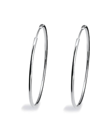 Pair of 'MAX HOOPS' in sterling silver from Spinning Jewelry.