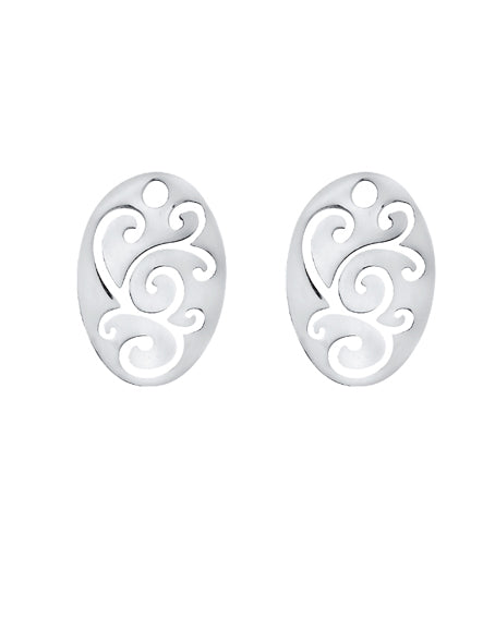 "Pair of earring hangers ""ORNAMENTAL"" from Spinning Jewelry, featuring sterling silver."