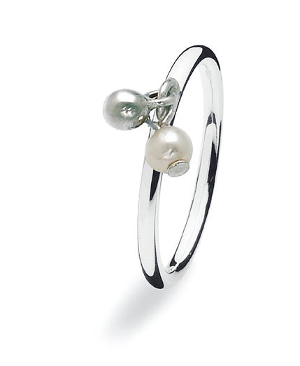 Sterling siilver Spinning ring with freshwater pearls