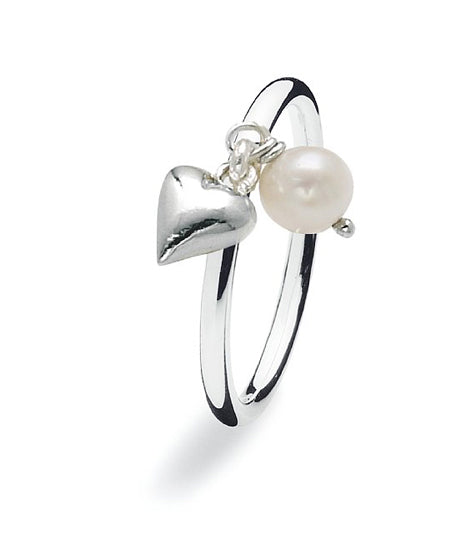 Sterling siilver Spinning ring with freshwater pearl