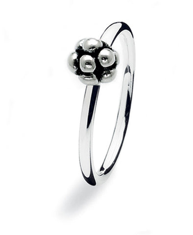 Sterling silver ring with berry motif.