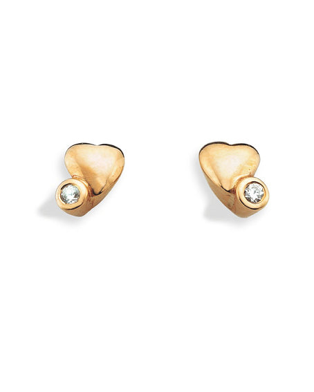Ear Studs 342-02 : HEART TWIST, 9 carat gold