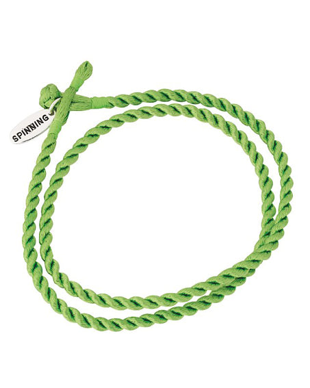 Twined Satin Bracelet, green