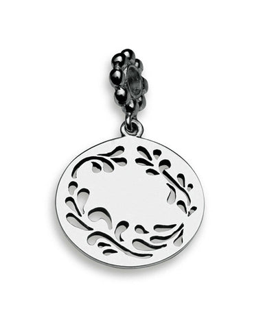 Sterling silver necklace and bracelet charm with bonsai motif.