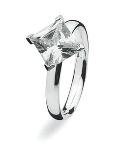 Sterling silver Max Spinning ring with cubic zirconia