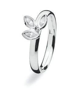 sterling silver Max ring with cubic zirconia setting