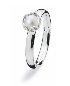 Sterling silver Max ring with freshwater pearl