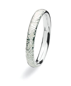 sterling silver Max ring with ivory enamel.