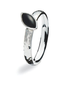 Sterling silver Max ring with black agate