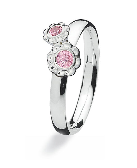 Sterling silver Max ring with cubic zirconia.