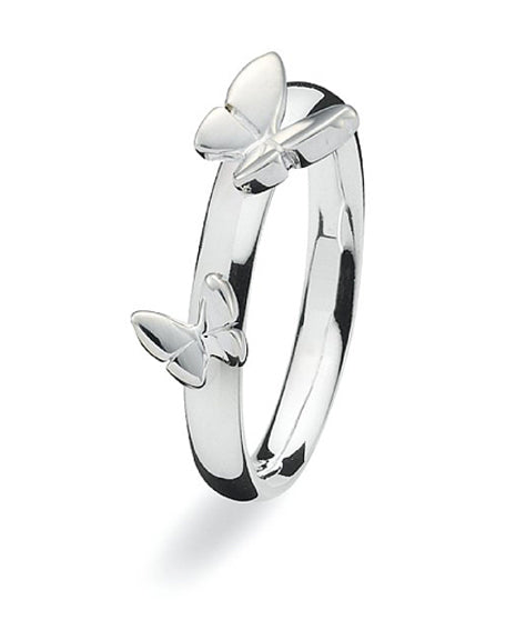 Sterling silver Max ring with butterfly motif