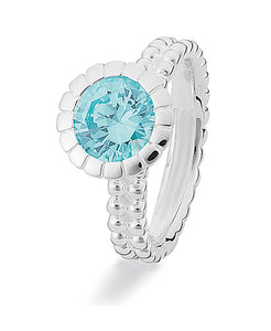 Sterling silver Extreme ring from Spinning Jewelry, with cubic zirconia