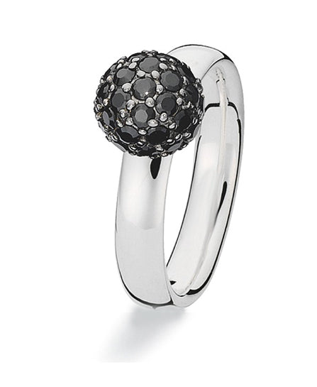 Sterling silver Extreme ring from Spinning Jewelry, with cubic zirconia.