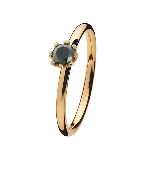 9 carat gold Spinning ring with hematite