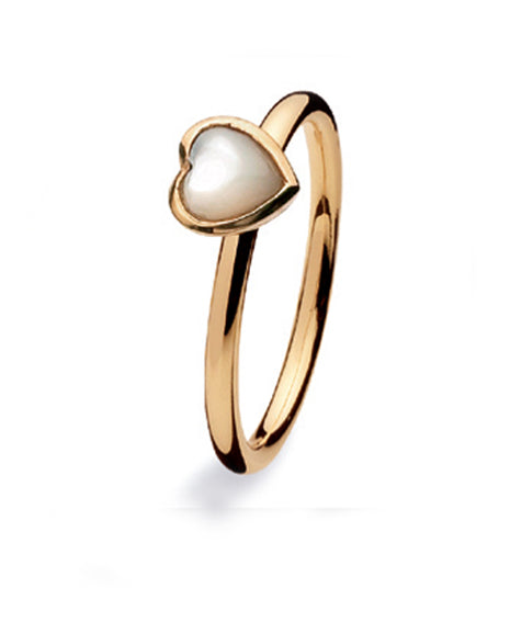 9 carat gold Spinning ring with mother of pearl setting