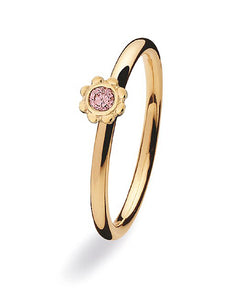9 carat gold Spinning ring with cubic zirconia.