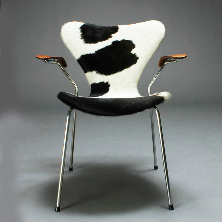 Vintage cowhide Jacobsen chair
