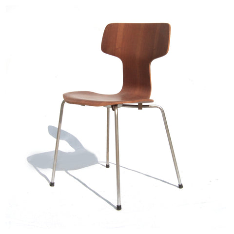 Vintage Arne Jacobsen chair model 3103 in teak with steel legs