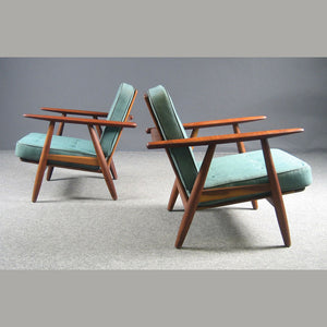Vintage Hans Wegner Cigar chair pair