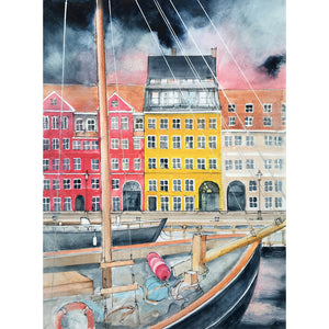 Fine Art Print : Nyhavn and H.C. Andersen