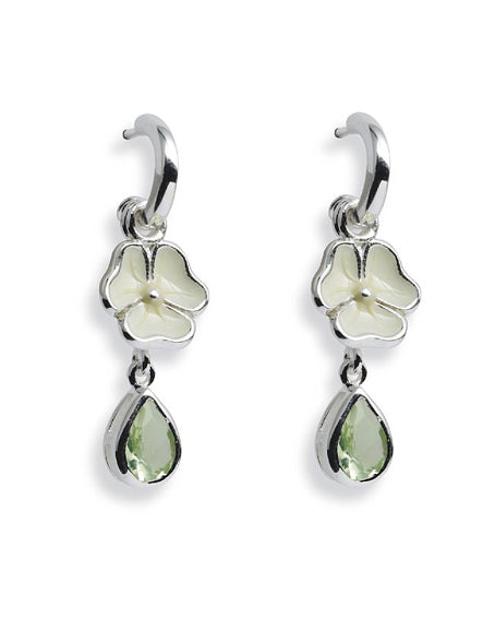 Earring combination 'HARMONY' from Spinning Jewelry, featuring sterling silver with enamel and peridot glass.