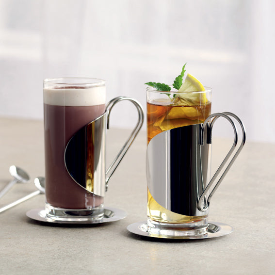 Hot and Cold glasses, Straw Spoons, Coasters