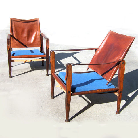 Vintage Danish Safari chairs - design Kaare Klint