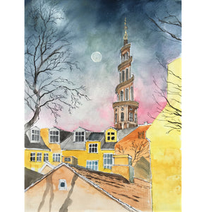 Fine Art Print : Our Saviour Church, Christianshavn