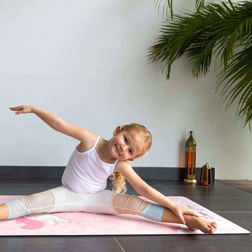 Luxy Yoga 5mm children's yoga mats provide a great foundation for children learning yoga