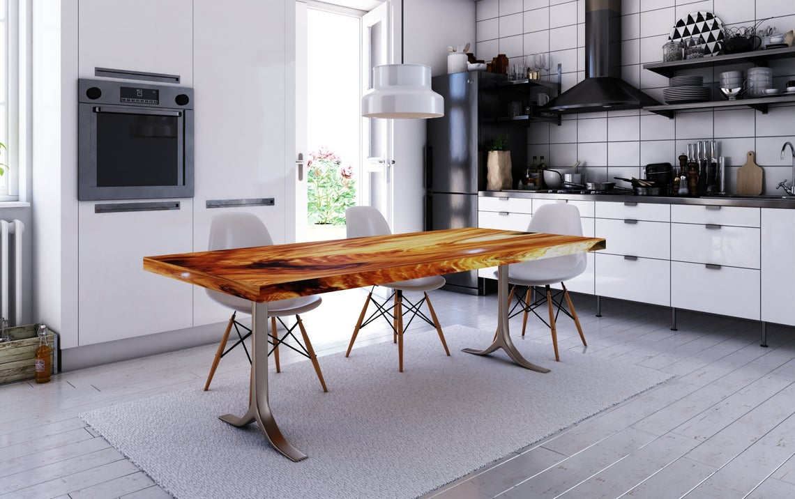 Picture of: Custom Acacia Wood Live Edge Tables Expertly Crafted Finished