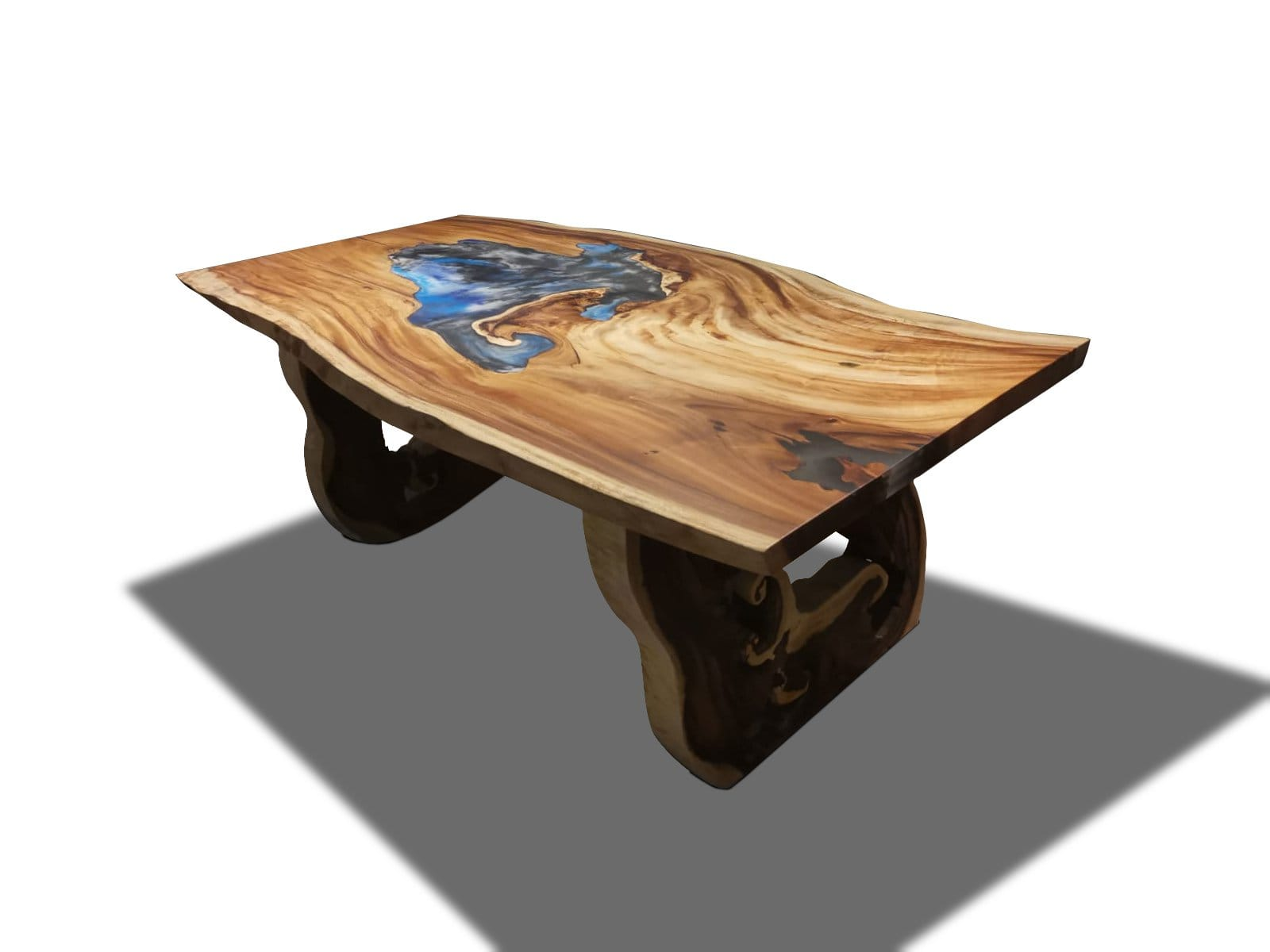 Acacia Wood Live Edge Dining Table with Epoxy Resin River