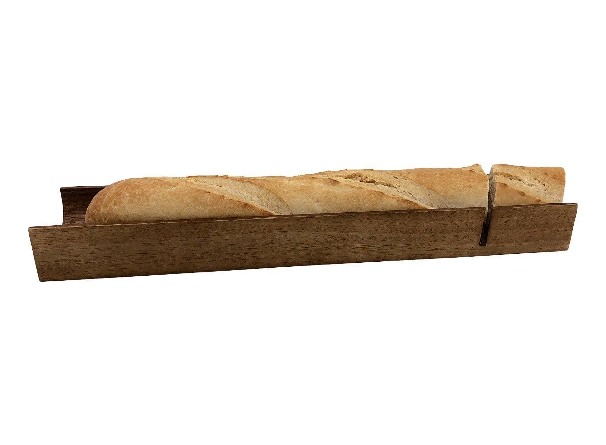 Acacia Wood French Bread Slicer Board