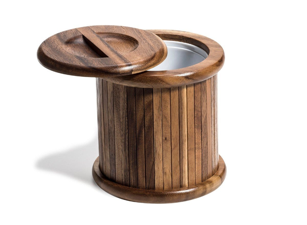 3 Quart Acacia Wood Ice Bucket with Lid