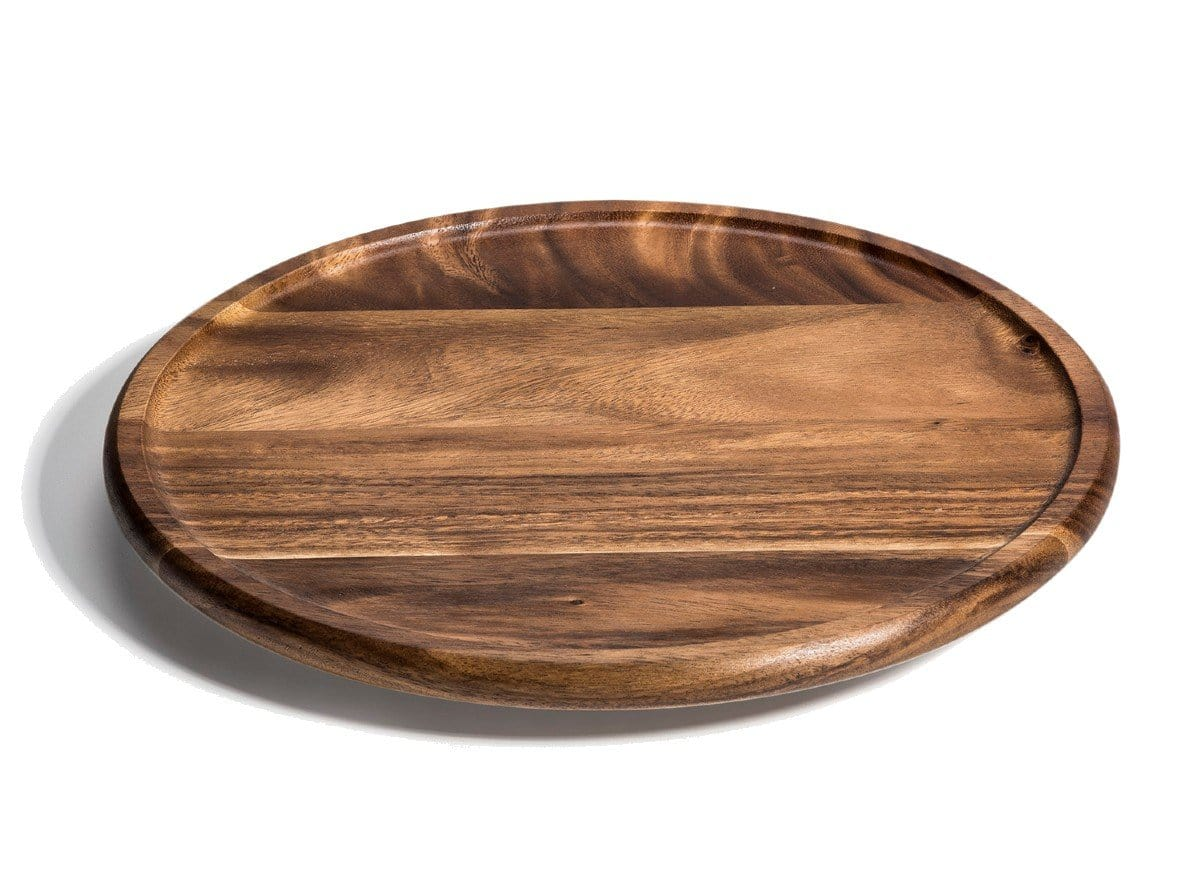 "15"" Acacia Wood Lazy Susan Kitchen Turntable"