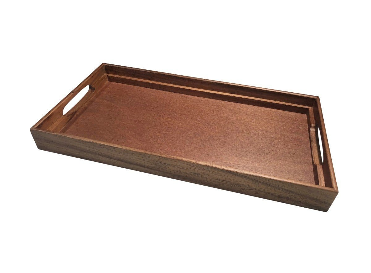 3-In-1 Acacia Wood Tray, Trivet, and Bread Crumb Catcher